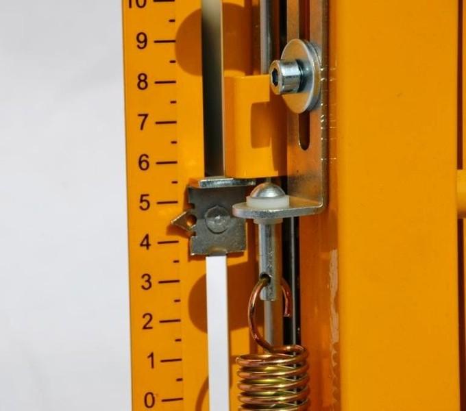 Styrox leikkuri Stobra ECO - Pysäyttimet, mitta-asteikolla