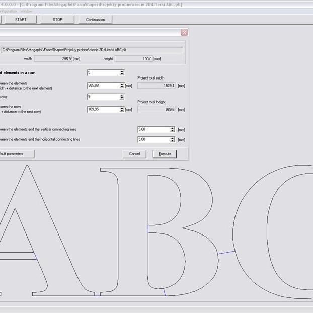 Styrox 3D CNC leikkurin - Ohjelmisto